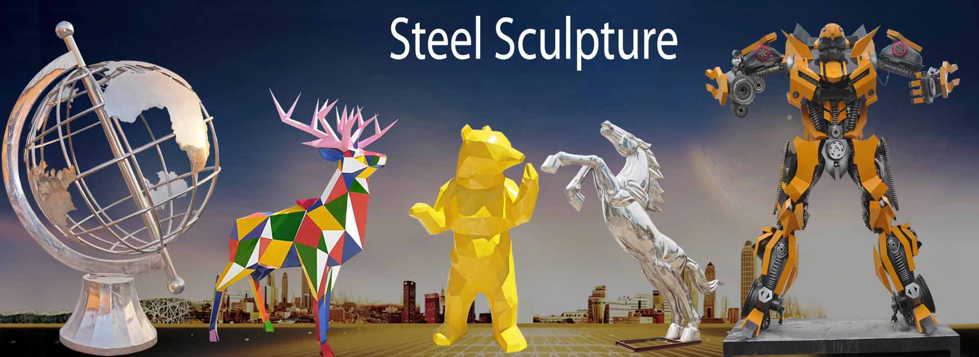stainless steel statue sculpture