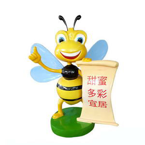 cartoon bee statue
