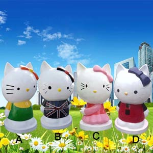 Cartoon cat statues