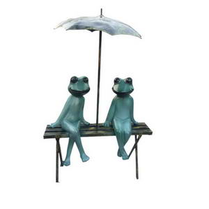 Cartoon frog bench