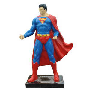 Life size superman statues