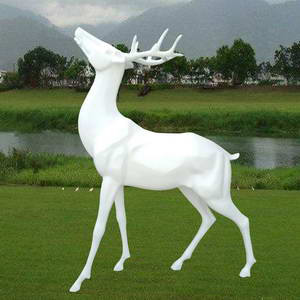Modern deer sculpture