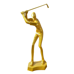 golf player statues