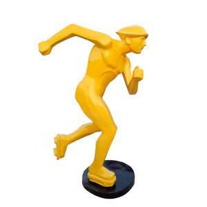 Skate player statue