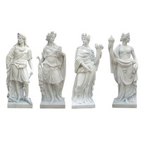 Marble four seasons statues