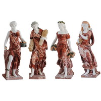 marble four season goddess statues
