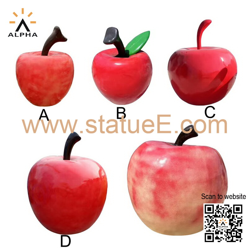 Apple garden sculpture